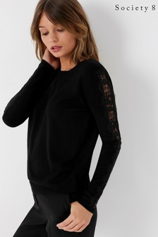 Society 8 Lace Sleeve Jumper