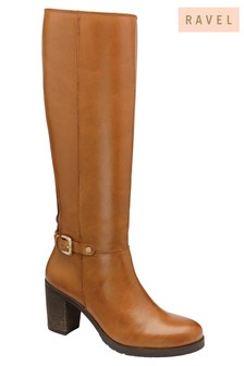 Ravel Leather Knee Length Boots