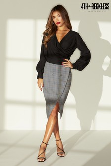4th & Reckless Button Front Pencil Skirt
