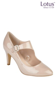 Lotus Heeled Court Shoes