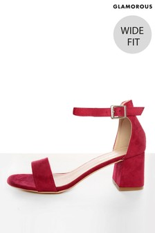 Glamorous Wide Fit Low Heel Court Sandals