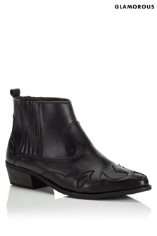 Glamorous Western Style Ankle Boot