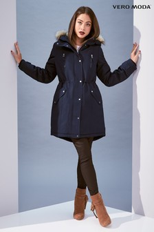 Vero Moda Faux Fur Hood Parka Jacket