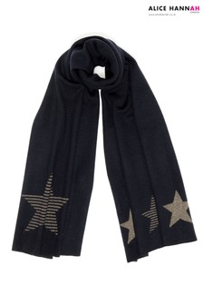 Alice Hannah Glitter Striped Star Scarf
