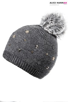 Alice Hannah Star Embellished Knit Beanie