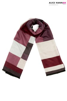 Alice Hannah Mix Colour Block Woven Scarf