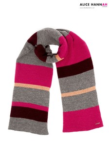 Alice Hannah Colour Block Knitted Scarf