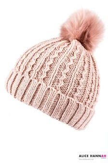 Alice Hannah Faux Fur Pom Pom Hat