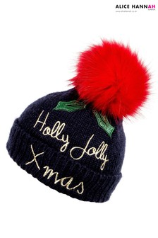Alice Hannah Embellished Holly Beanie
