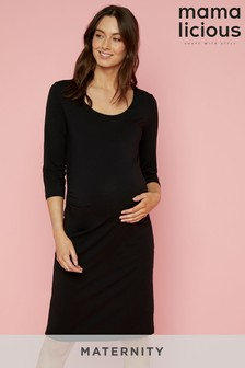 Mamalicious Maternity Jersey ¾ Sleeve Dress