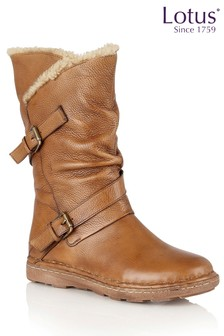 Lotus Leather Calf Boots
