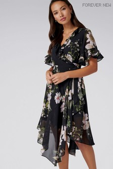Forever New Printed Wrap Dress