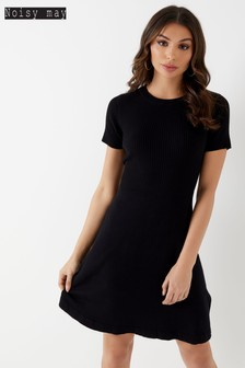 Noisy May Short Sleeve Knit Dress