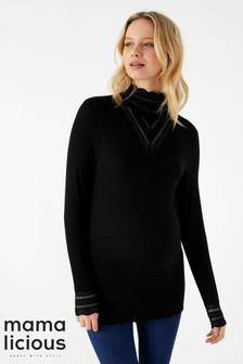 Mamalicious Maternity Long Sleeve Jersey Top