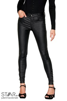 Star By Julien Macdonald Laced Up Coated Jeans