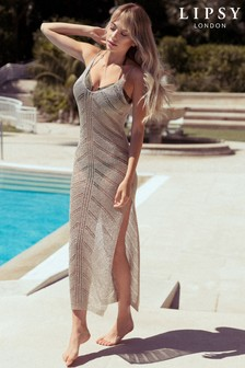 Lipsy Crochet Beach Dress