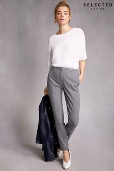 Selected Femme Slim Fit Cropped Trouser