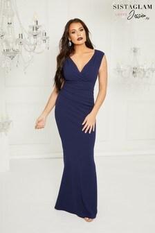 Sistaglam Loves Jessica Maxi V neck Dress