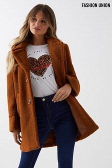 Fashion Union Teddy Coat