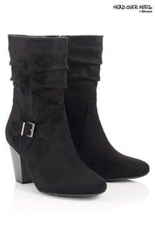 Head Over Heels Buckle Calf Boots