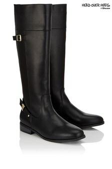 Head Over Heels Buckle High Leg Boots