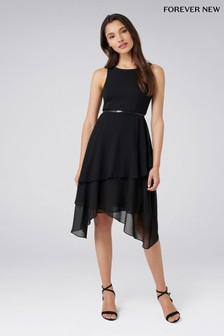 Forever New Petite 2-in-1 Tiered Midi Dress