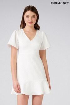 Forever New Petite Jacquard Flare Mini Dress