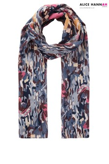 Alice Hannah Abstract Floral Print Scarf