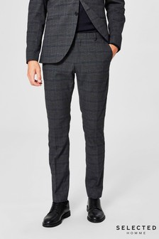 Selected Homme Check Slim Trousers