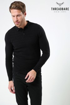 Threadbare Knitted Polo Shirt