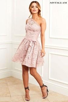 Sistaglam Lace Skater Dress