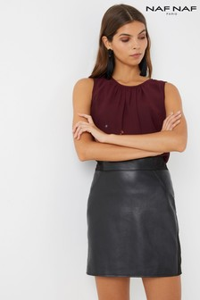 Naf Naf PU Skirt