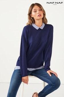 Naf Naf Knit And Shirt Combo
