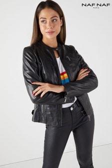 Naf Naf Leather Jacket