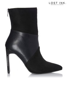 Lost Ink Setback Tonal Ankle Boots