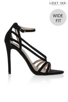 Lost Ink Wide Fit Strappy Sandals