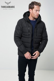 Threadbare Black Padded Jacket