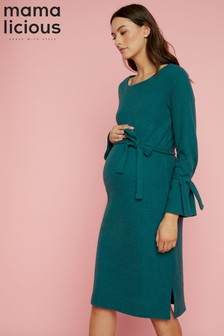 Mamalicious Maternity Knitted Midi Dress