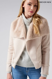 Forever New Bonded Waterfall Jacket