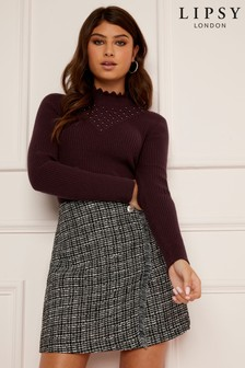 Lipsy Beaded Neck Jumper