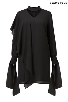 Glamorous Curve Choker Frill Dress