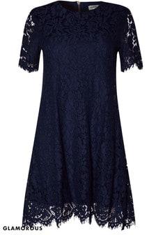 Glamorous Curve Lace A line Dress