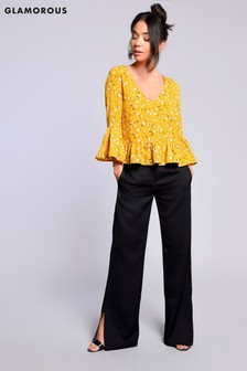 Glamorous High Waisted Trouser With Split