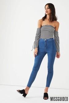 Missguided Highwaisted Stonewash Jean
