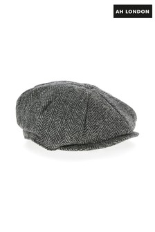 AH London Harris Tweed Flat Cap