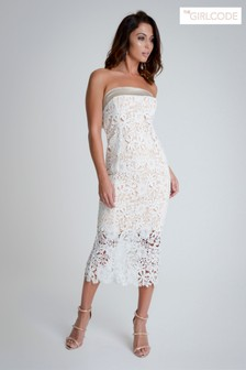 The Girl Code Lace Midi Dress