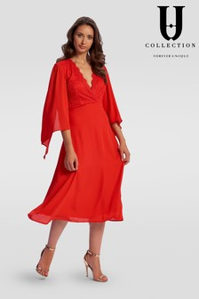 Forever Unique Wide Sleeve Midi Dress