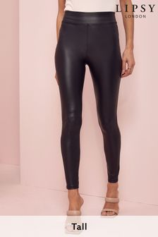 Lipsy Tall Leather Look Leggings