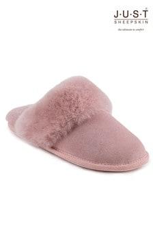 Just Sheepskin Cuff Mules Slippers