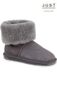 Just Sheepskin Roll Cuff Boots